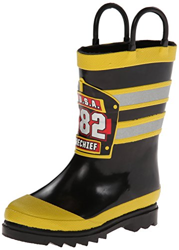Western Chief Kids F.D.U.S.A Firechief Rain Boot (Infant/Toddler/Little Kid),Black,8 M US Toddler (Kid Rain Boots compare prices)