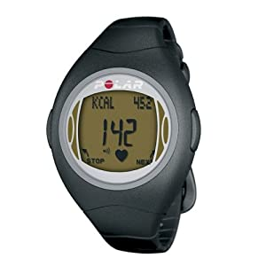 Polar F4 Women's Heart Rate Monitor Watch (Black Amber)