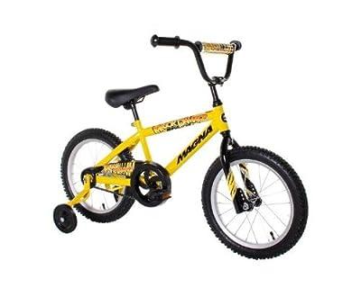 Dynacraft Magna Major Damage Boy's Bike (16-Inch, Yellow/Black) from Dynacraft