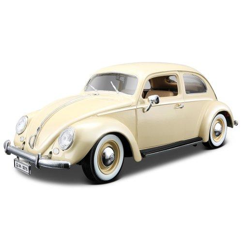 Bburago-12029W-Modellauto-118-Vw-Kfer-1955beige-Fahrzeuge