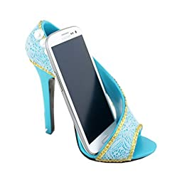 Birthday Gift,cute Jacki Design Shoe Cell Phone Holder for Iphone 6 Plus, Samsung Galaxy S 5 Note 4 (Blue)