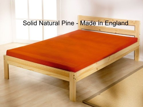 Double pine bed 4ft 6 bed frame- Solid Pine. Complete with solid base slats and centre rail