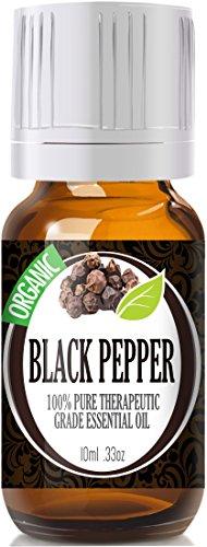 Black Pepper (Organic) 100% Pure, Best Therapeutic Grade Essential Oil - 10Ml