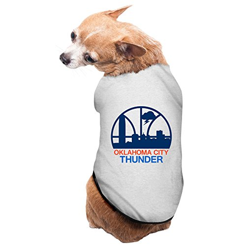 [Gray Oklahoma City Thunder Logo Northwest Division Pet Supplies Puppy Clothes Small Dog Costumes] (Gladiator Dog Costumes)