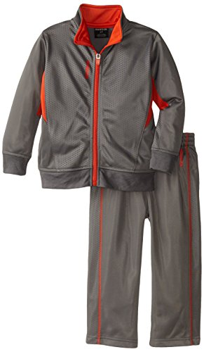 Reebok Little Boys' Honeycomb Jacket Set Toddler, Shark, 4T