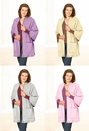 Country Club Womens/Ladies Soft & Cosy Shawl With Pockets One Size Multi Use, Thermal, Beige
