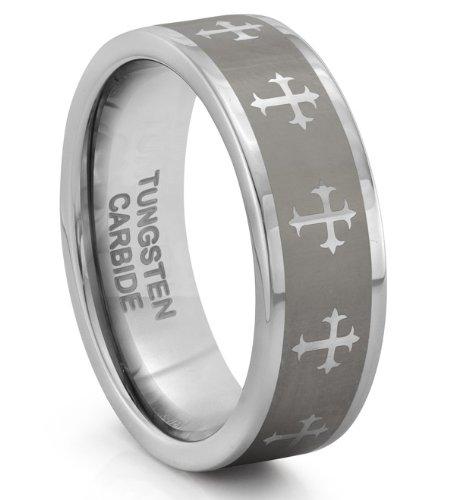 Mens Silver Wedding Bands 28 Fabulous MM Tungsten Carbide Silver
