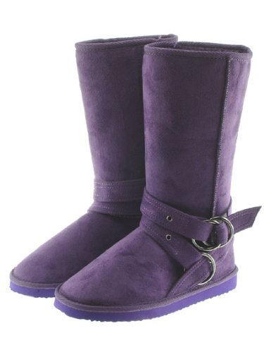 Couture Discount Damenstiefel Fell Boots, lila (WST5)
