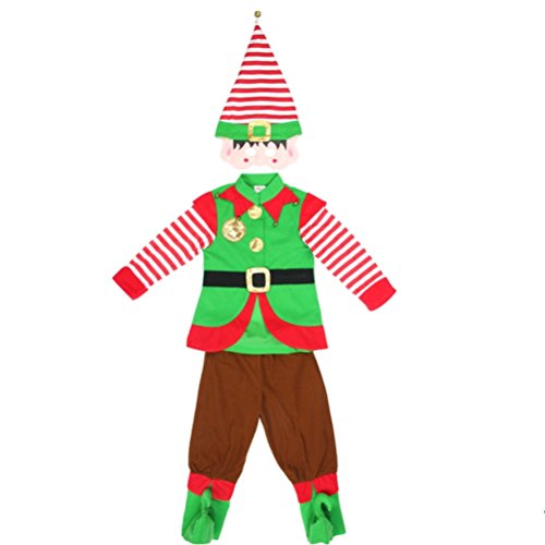 FashionFits Boy's Christmas Elf Kids Costume