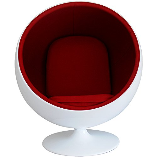 ボールチェア エーロ・アールニオ デザイン ホワイト×レッド ballchair sofa ソファ ソファー