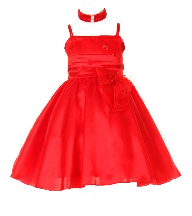 Size 6M - Red Christmas Dress Baby And Toddler ( 3M To 4T)
