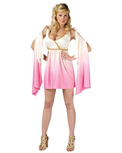 [Sexy White Pink Venus Costume Grecian Goddress Mythology Athena Aphrodite Sizes: Medium-Large] (God And Goddesses Costume Aphrodite)