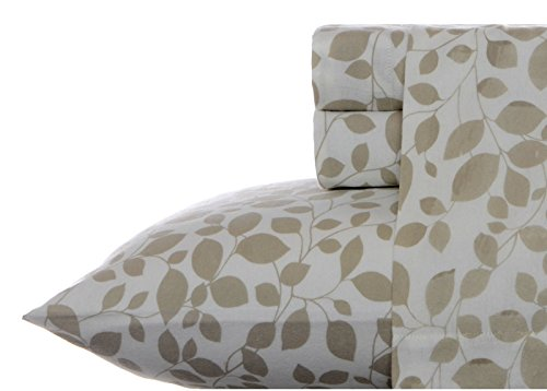 Laura Ashley Leaves Sheet Set, Beige, King (Laura Ashley Bed Sheets compare prices)