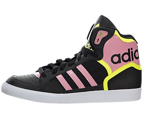 Adidas Extaball Shoe - Womens Core Black/Super Pop F15/Solar Yellow, 7.5