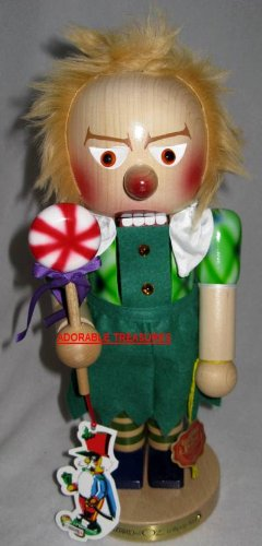 41BQPyTa1jL SIGNED 2010 STEINBACH WOODEN *LOLLIPOP MUNCHKIN* WIZARD OF OZ NUTCRACKER