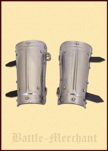 Armschienen aus Stahl - Armschützer - Arm Rüstung - Mittelalter - LARP