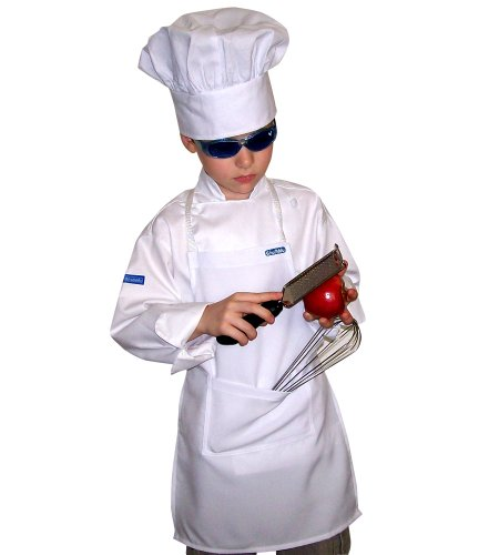 Chefskin Kids White Mushroom Puffy Chef Hat White Adjustable