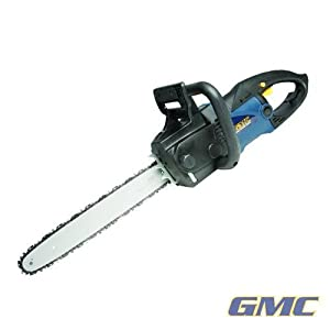 GMC Power Tools GMC Power Tools Electric Chainsaw 2400W ELC2400 Powerful 2400W Electric Chainsaw with 460mm Oregon branded guide bar and blade, double safety brake and automatic chain lubrication. Double insulated. No load speed 14m/s. Max cutting length 395mm.