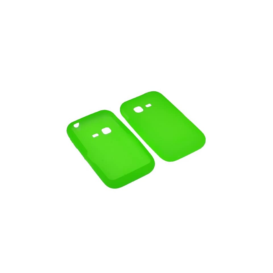 BW Silicone Sleeve Gel Cover Skin Case for Tracfone, Net 10, Straight Talk Samsung S390G Neon Green