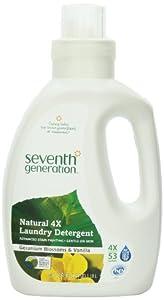 Seventh Generation Liquid Laundry 4x, Geranium Blossom and Vanilla, 2 Count, 80 Fl Oz