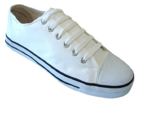Womens Classic Canvas Shoes Sneakers 6 Colors (7, White 327L)