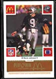 McDonald's NFL Play & Win 1986 Football Cards (Seattle Seahawks Gold Tab Set) 24 Cards (tabs still attached and unscratched) at Amazon.com
