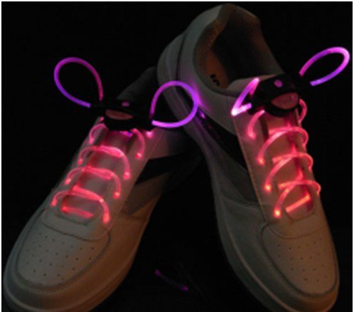 Image® Light Up Flash Led Waterproof Shoelaces - 3 Modes (On, Strobe & Flashing)
