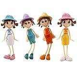 Imported 4pcs Miniature Dollhouse Bonsai Craft Garden Landscape DIY Summer Girl Decor