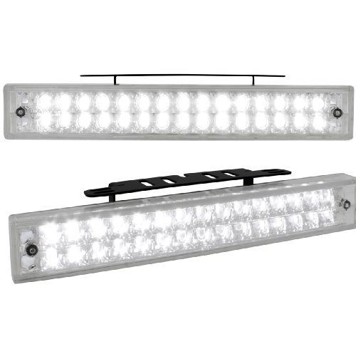 Dectane LGX06 Lot de 2 feux de circulation diurnes 30 LED 190 x 30 x 40 mm