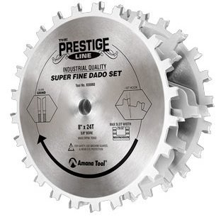 Amana Tool 658060 Prestige Super-Fine 8-Inch by 24 Tooth 5/8-Inch Bore Dado Set by Amana Tool (Amana Super Rabbet compare prices)
