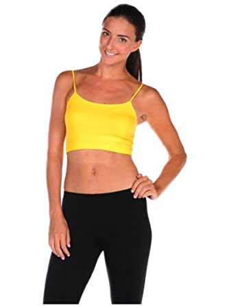 Luxe Junkie Womens Bra 1/2 Cami - Yellow - One Size