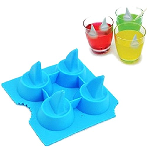 DUFUSTORE Freeze Beer Mould Party Shark Fin Pattern Random Color Ice Cube Mold Tray (Ice Cube Shark compare prices)