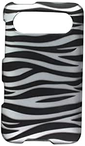 Eagle Cell PIHTCHD7R2D128 Stylish Hard Snap-On Protective Case for HTC HD7/HD7S - Retail Packaging - Zebra Black/White
