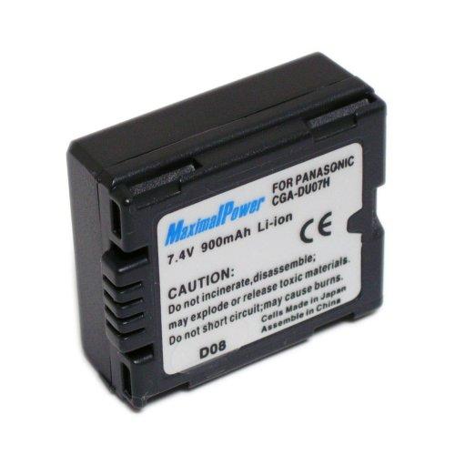 Maximal Power DB PAN CGA-DU07 Replacement Battery For Panasonic Digital Camera/Camcorder (Black)