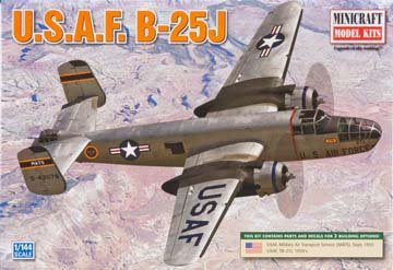 Minicraft B25H/J USAF Post War 1/144 Scale with 2 Marking Options