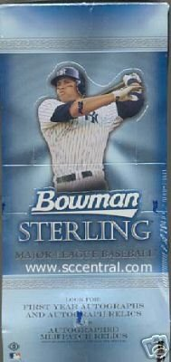 2005 Bowman Sterling Baseball Card Unopened Hobby Box