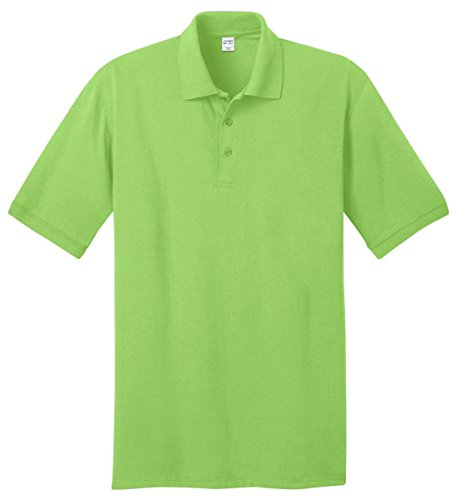 Port & Company Men'S Comfortable Knit Collar Polo Jersey_Lime_Large