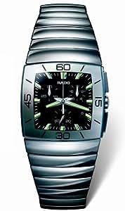 Rado Sintra Black Dial Chronograph Mens Watch R13434172: Rado: Watches