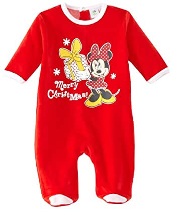 Disney Minnie Mouse HM0345 Baby Girl's Pyjamas Red/White 3 Months