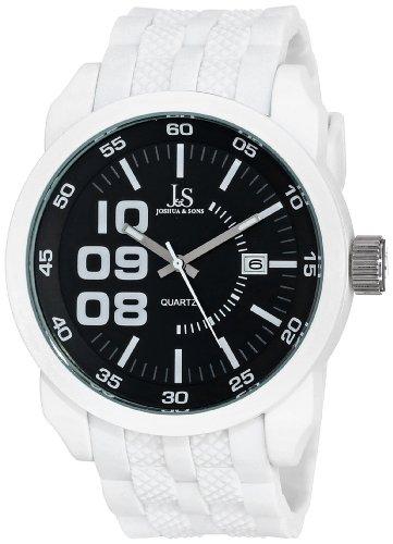 Joshua & Sons Reloj Pantalla analógica cuarzo japonés Blanco para Hombre