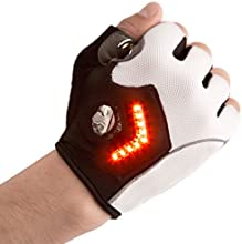 Zackees LED Turn Signal Gloves, White, Large