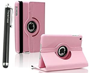 "ThinkCase Magnetic 360 Rotating Smart Case Cover For ""The New iPad"" 4 /3rd Gen //iPad 2 Automatically Wakes and Puts the iPad 4 & 3 & 2 to Sleep+Stylus (PURPLE)"