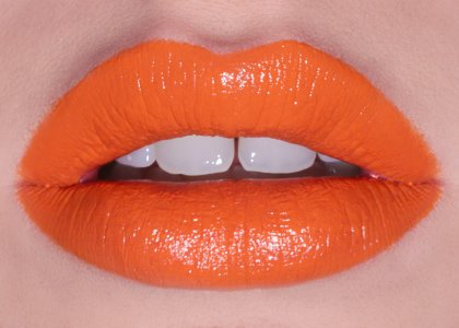 orange tangerine lipstick smoothie