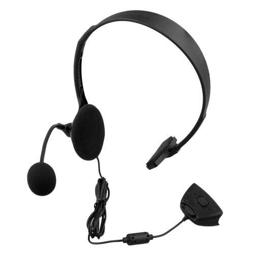Generic Headset Headphone Mic Microphone for XBOX360 XBOX 360 2 5mm plug headset w microphone for xbox360 xbox 360 slim black