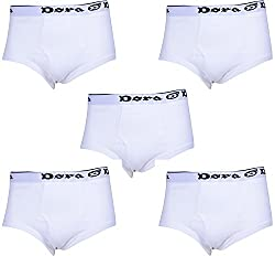 Dora Men's Cotton Brief (Pack of 5, White, 100)