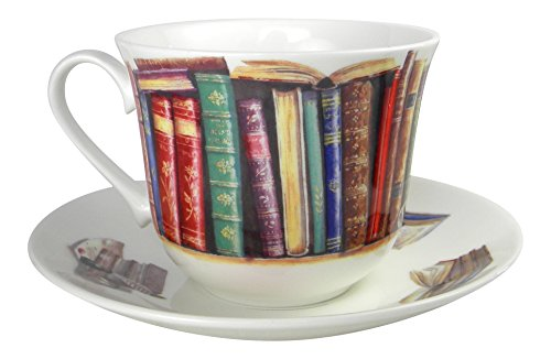 Book Lovers Tea cup and Saucer Set Fine Bone China