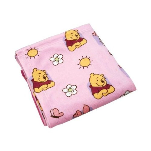 Disney Happy Morning Pooh Printed Velboa Baby Blanket - 1