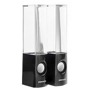 Foxnovo YK-1229 Haut-parleurs avec mini fontaines à LED couleur pour MP3 / téléphone portable / ordinateur Alimentation via USB