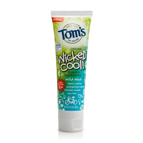 Tom'S Of Maine Natural Wicked Cool! Fluoride Toothpaste, Mild Mint, 4.2 Ounce