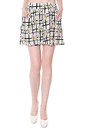 Simplicity Summer Fashion Shorts In Floral Print, Pleated/Loose Fitted, S/M